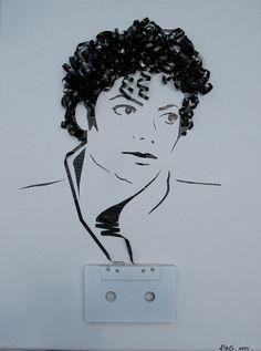 Michael Jackson Cassette Tape Art