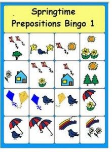 Pinterest Pin of the Week: Springtime Preposition Bingo   - Pinned by @PediaStaff – Please Visit  ht.ly/63sNt for all our pediatric therapy pins