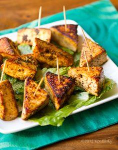 Tofu Triangle Bites