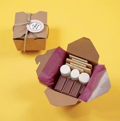 s'mores take home boxes!