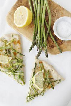 Shaved Asparagus and Lemon Pizza