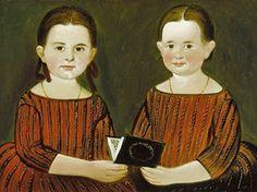 William Matthew Prior (American Artist 1806-1873  Mary Cary and Susan Elizabeth Johnson, 1848