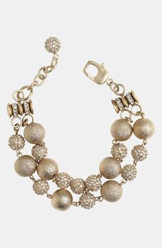 St. John Collection Brushed Gold & Crystal Bracelet available at #Nordstrom