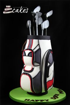 Golf Bag Cake Images : Golf Cakes, Cupcakes, Treats... on Pinterest Golf Cakes ...