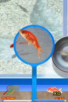 Japanese iPhone App- summer festival game to catch goldfish with a paper net. My kids love it.