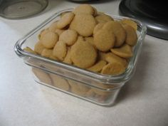"Homemade ""Nilla Wafers"" - I can't wait to make these. I never buy them for my kids cause of the ingredients. homemade nilla wafers, frugal recip, nilla wafer recipes, vanilla wafer recipe, vanilla extract, food, nilla wafer cookies recipes, homemade vanilla, homemad vanilla"