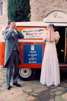 Dr Who wedding couple :) photo by Joyeuse Photography http://ruffledblog.com/french-castle-wedding #weddingportrait #weddingideas