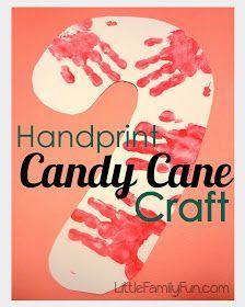 Little Family Fun: Handprint Candy Cane Craft