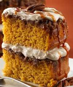 Praline Pumpkin Cake Recipe