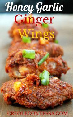 Honey Garlic Ginger Chicken Wings