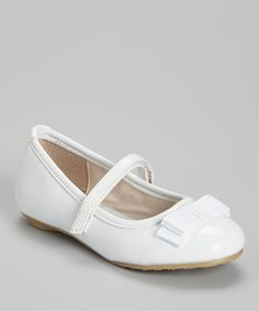 This White Bow Flat by Laura Ashley is perfect! #zulilyfinds
