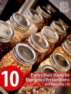 emergency food storage pantry | Canning_Food Storage / 10 Pantry Must Haves for Emergency Preparedness ...