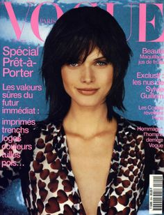 February 2000: Malgosia Belas first cover for Vogue Paris