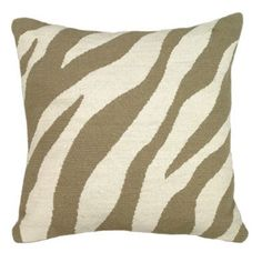 Zebra Needlepoint Pillow - Zebra Pillow - Zebra Pattern Pillow - Zebra Print Pillow #celebrateballard