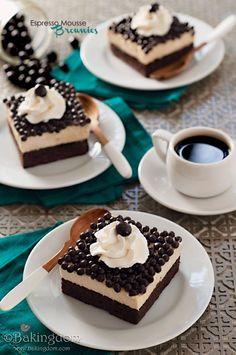 Espresso Mousse Brownies - bjl
