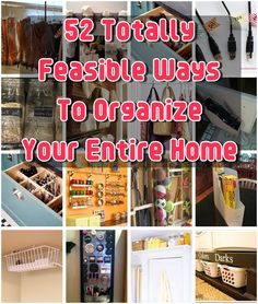 Diy Projects: 52 Totally Feasible Ways To Organize Your Entire Home total feasibl, 52 total, diy projects