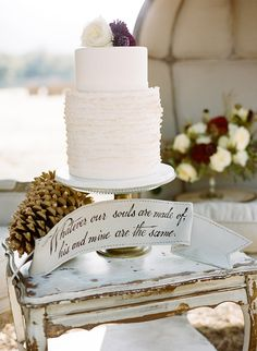 {Bridal Cake} Rustic & elegant Wedding Cake photo by LMarie Photography #bridal #wedding #weddingcake