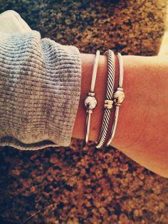 stacked bracelets, cape cod bracelet, silver bracelets, cuff bracelets, arm candies