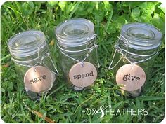 i love this idea for a kids allowance .. they need to learn to do all three!