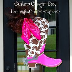 Hey, I found this really awesome Etsy listing at http://www.etsy.com/listing/106553942/western-decor-cowboy-boot-western-door