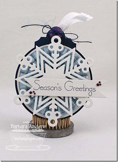 Jumbo Snowflake Die-namics, Decorative Circle Tag STAX Die-namics - Barbara Anders