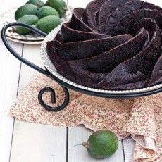 CHOCOLATE FEIJOA AND BANANA BUNDT CAKE  by Gourmet Recipes