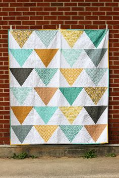 Flagged Quilt: Mini Tutorial by Jeni Baker, via Flickr