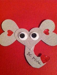 Elephant Valentine craft