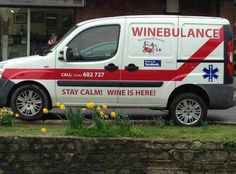 The Winebulance is on its way!