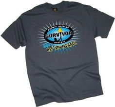 """""""You... Off My Island"""" -- Charcoal Gray -- Survivor Adult T-Shirt"""