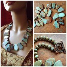statement necklaces, slab bead, bead statement