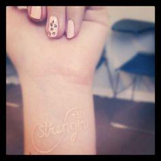 infinity tatoos and breast cancer tatoos | Love Strength Fascinating Infinity Tattoo - InspiriToo.com