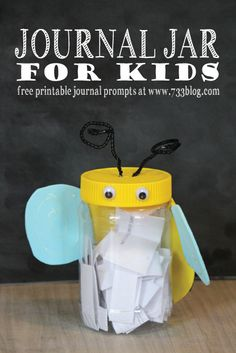 Journal Jar for Kids with Free Printable Journal Prompts