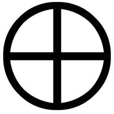 The Solar cross is probably the oldest religious symbol in the world, appearing in Asian, American, European, and Indian religious art from the dawn of history. Composed of a equal armed cross within a circle, it represents the solar calendar- the movements of the sun, marked by the solstices. Sometimes the equinoxes are marked as well, giving an eight armed wheel. The swastika is also a form of Solar cross.