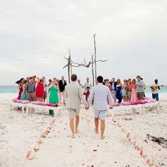 How Should the Couple Walk Down the Aisle at a Same-Sex Wedding Ceremony?