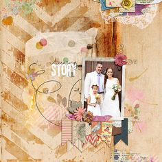 This month's Yum O! Recipe is: -Washi tape -At least 2 patterned papers -1 Photo -Paint Splatters -Stitching The rest is up to yo...