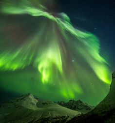 "CME IMPACT SPARKS AURORAS: A minor CME hit Earth's magnetic field on February 7th. The light show it produced was anything but minor. ""BANG!"" says Truls Tiller of Tromsø, Norway. ""The sky exploded in auroras."" In every direction he turned, he saw a scene like this."