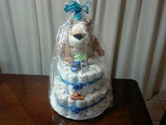 Torta de pañales !!!para baby shower