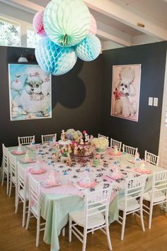 Vintage Puppy Birthday Party