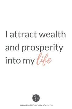 powerful affirmation for attracting wealth and prosperity