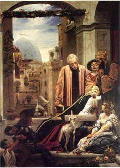 The Death of Brunelleschi, 1852 Frederic Leighton