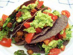 Veggie Terrain: Crunchy Blue Corn Chickpea Tacos
