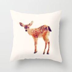 Fuzzy Fawn Pillow
