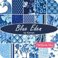 Blue Eden Fabric by Kanvas for Benartex Fabrics