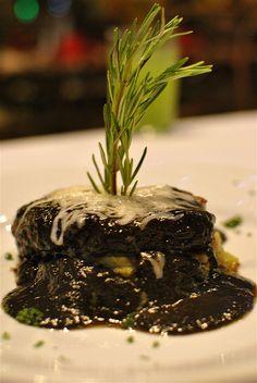 Huitlacoche Mole on Filet mignon