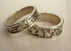 Sterling Silver Wedding Bands Rings His and Hers by cutterstone, $270.00