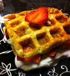 Coconut-Almond Flour Cake-Waffles