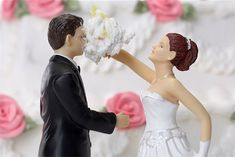 Another funny wedding cake toppers wedding cake toppers, idea, bridal bouquets, the face, funni, weddings, face topper, wedding cakes, divorc