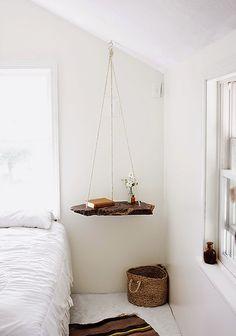 hanging bedside table bedroom