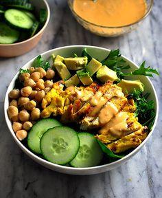 Satay Chicken Salad by fussfreecooking: GF #Salad #Chicken #Satay #Healthy #GF